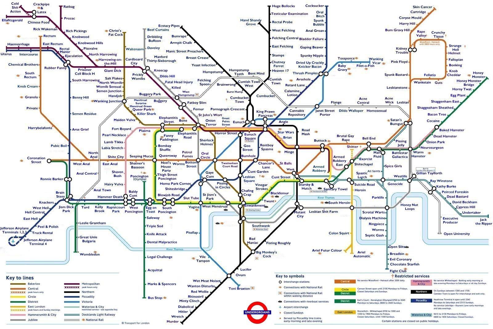 Tflsillymaps - Underground Map
